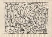 Серия «Структура».  1970-71  Б., тушь, перо  20,4х28,8 _1