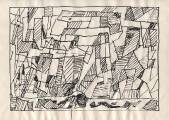 Серия «Структура».  1970-71  Б., тушь, перо  20,4х28,8 _4