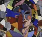 Женская маска, 1960-е гг. Бумага, темпера_1