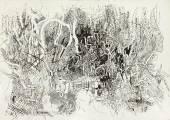 Сенокос 2. (Пластика скошенной травы). 1996. Бумага, тушь, перо, гуашь. 43,5х61._1