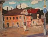 Улица в Костроме. 2005 Бумага, акварель, гуашь. 34х46;_1
