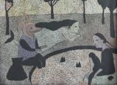Рыбалка.  1999  Б., гуашь, акв.   40х50 _1