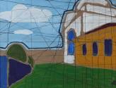В Торжке. 2014 Картон, акрил, маркер. 37,3х48,8._1