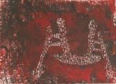 Лодка с рыбаками. 1999 Бумага, линогравюра. 42х58_1